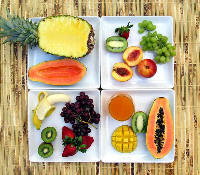 tropical fruit healthy salads with fruit