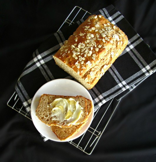 Honey Oat Quick Bread - this bread is delicious, super nutritious, and so so easy!