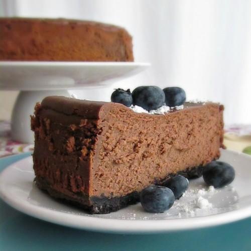 Oreo Chocolate Cheesecake Recipe Double chocolate cheesecake home is ...