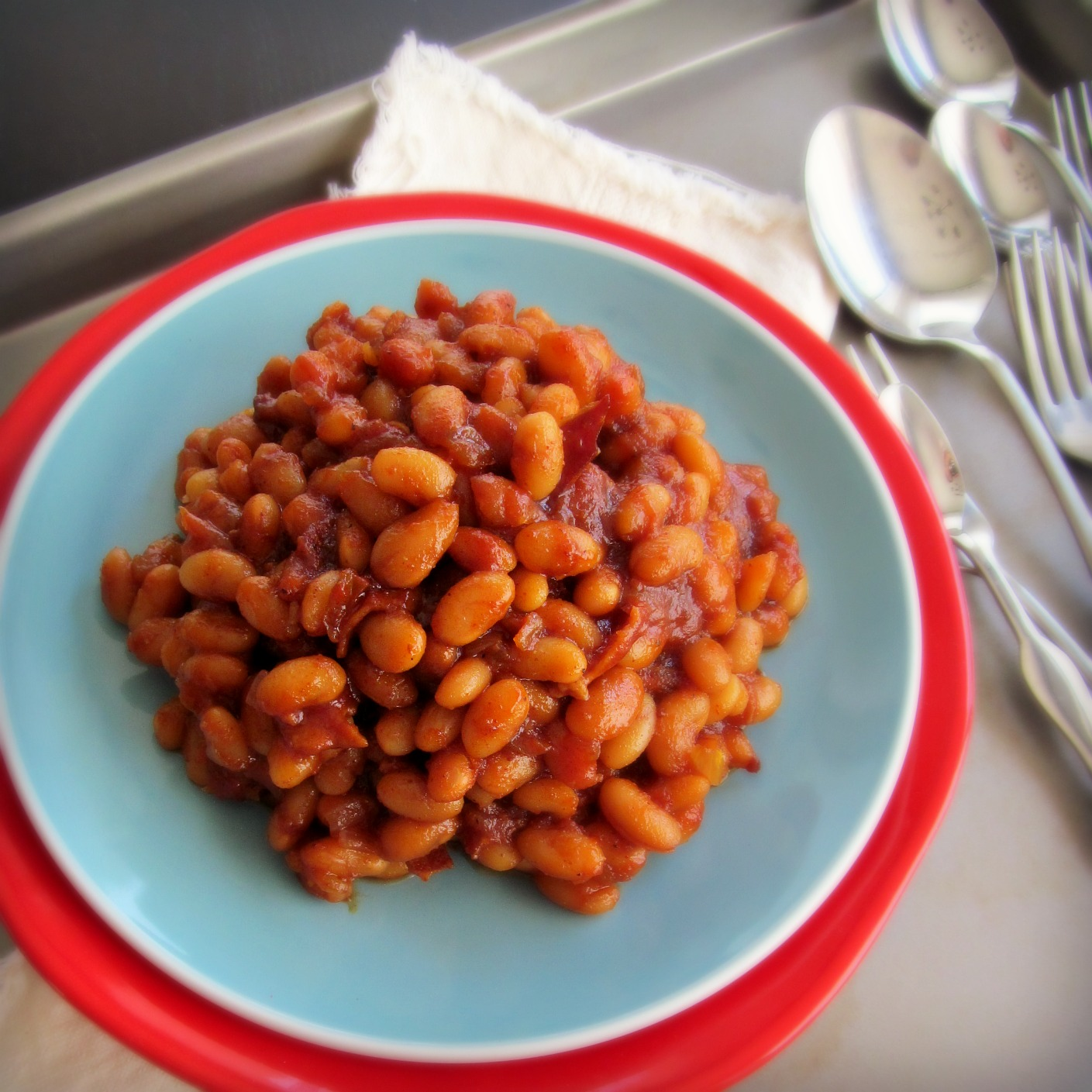 Barbecue Baked Beans From Scratch - With bacon, brown sugar, and Magic ...