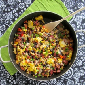 Creole Hash with Black Beans and Chicken Andouille