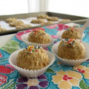 Blondie No Bake Dough Bites; Vanilla Gorilla Poop