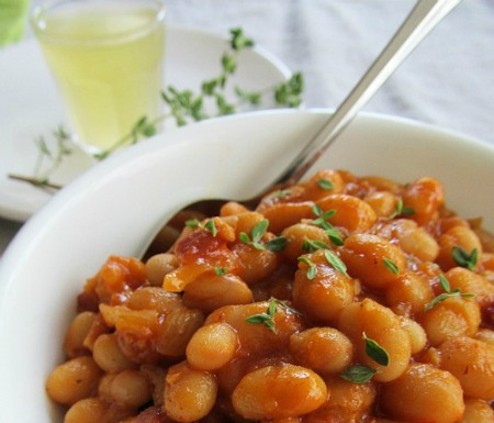 Lighter BBQ Baked Beans From Scratch
