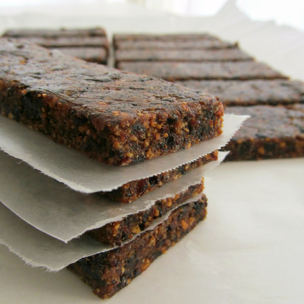 Homemade Energy Bars; Dried fruit, nuts, oats, breakfast bars, dates, cherries, orange, almond