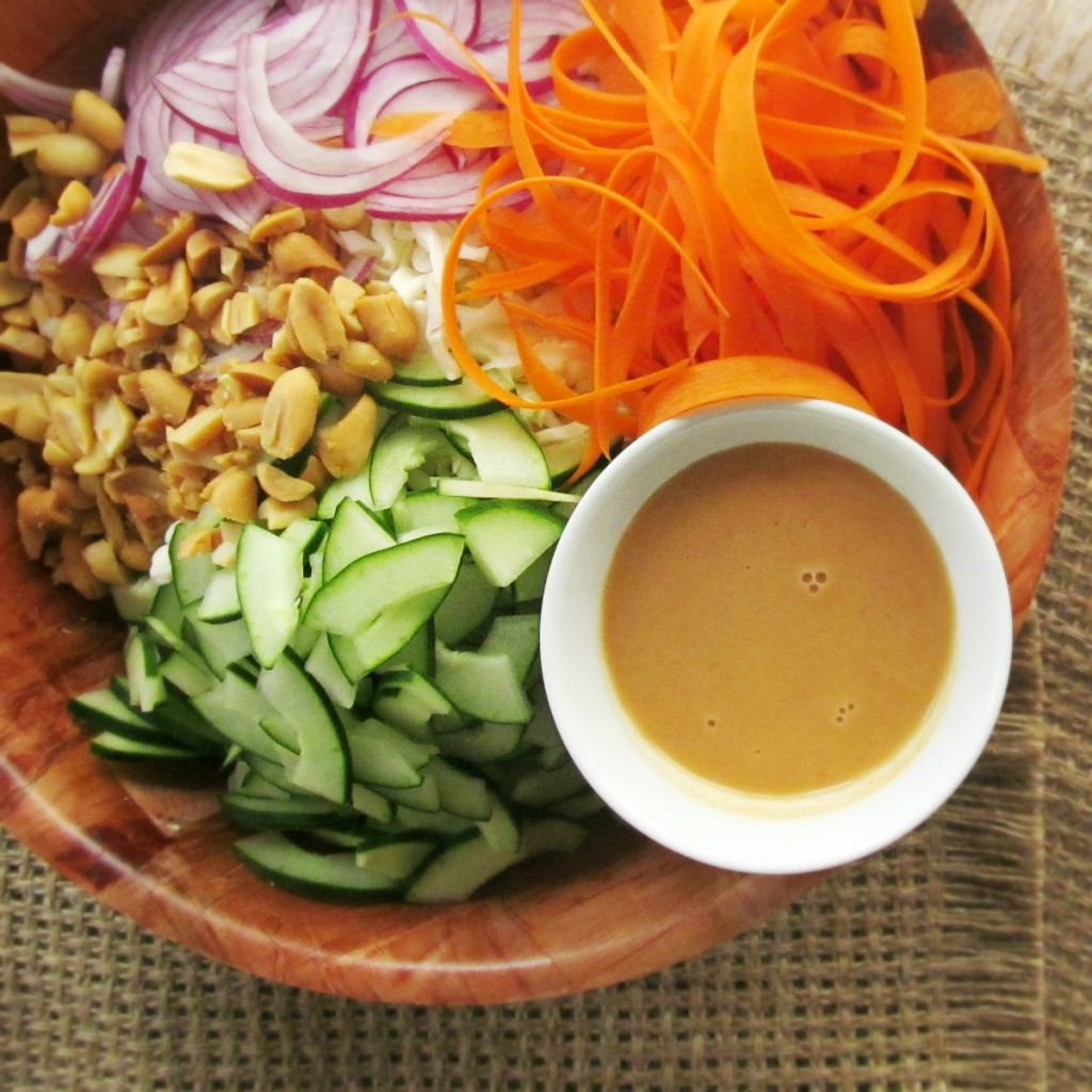 Spicy Peanut Cabbage Slaw