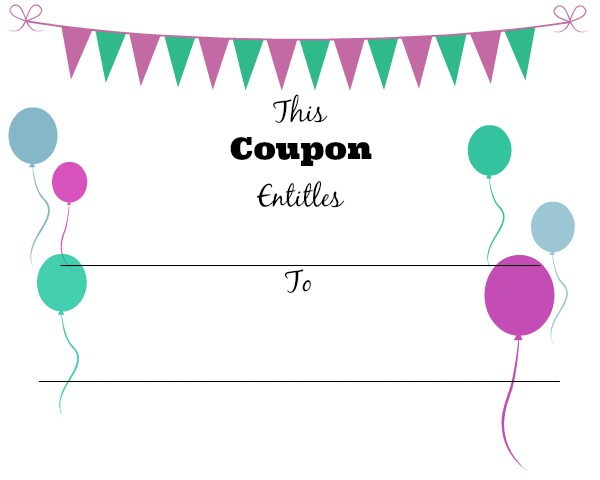 Coupon 4  Print Your Own Voucher