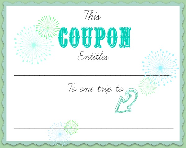 Pin babysitting voucher template free cake on pinterest for Coupon making template