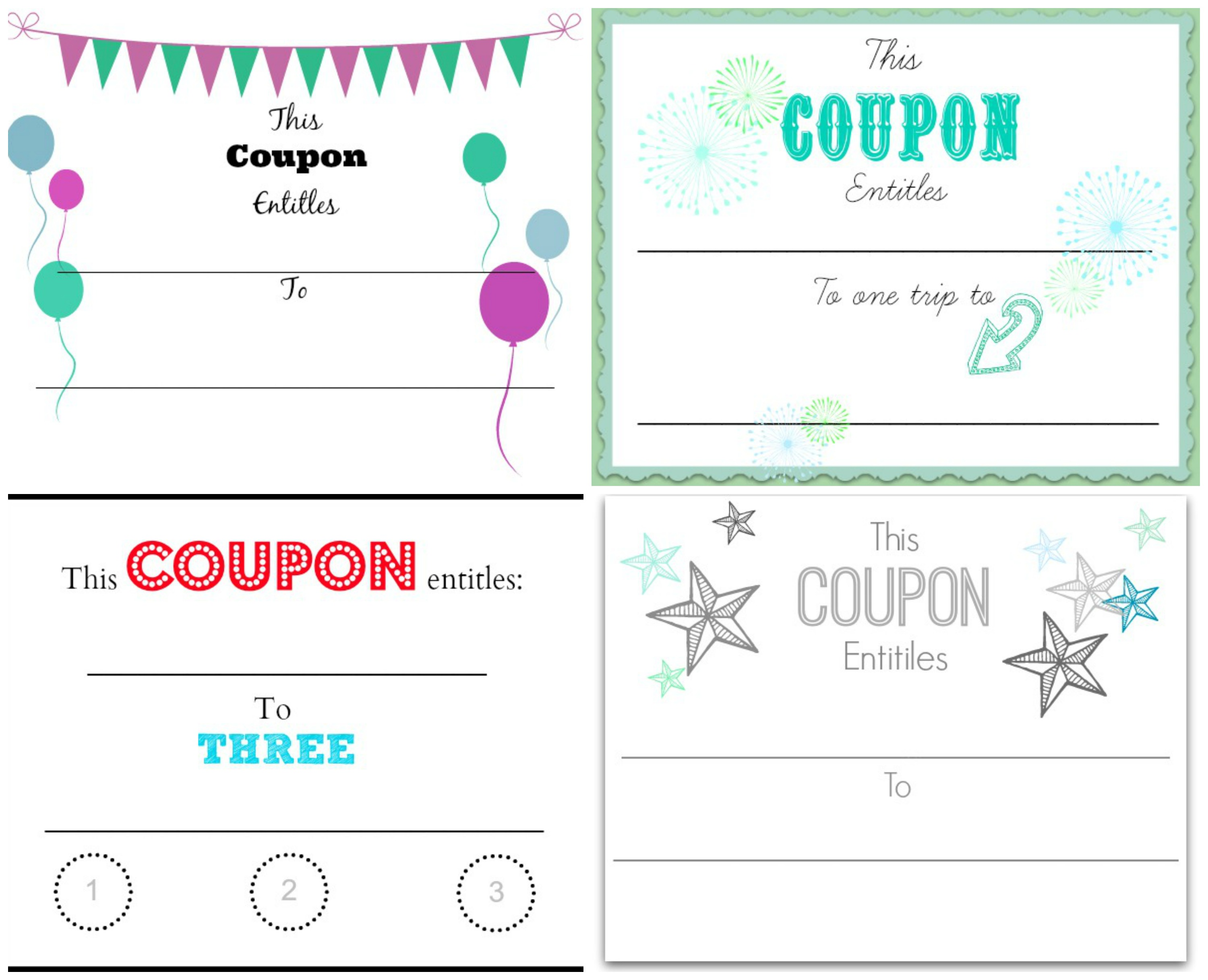 ... Coupon Collage  Make Your Own Gift Certificates Free