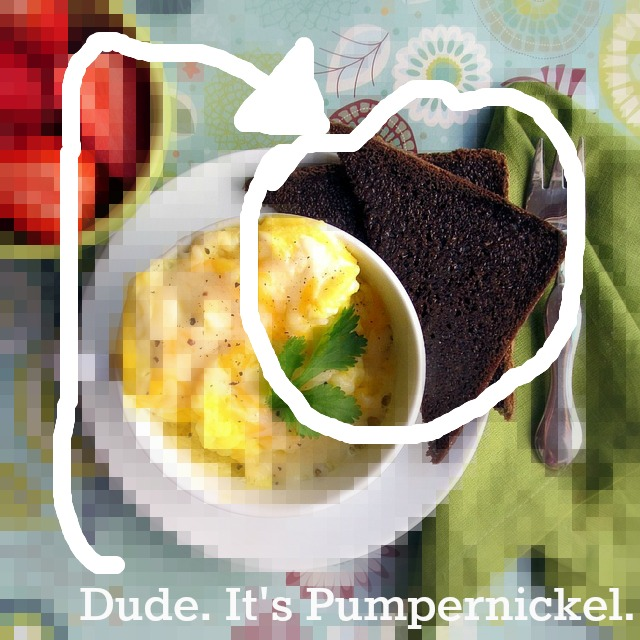 Pumpernickel toast, eggs, Zazzle, T-shirt