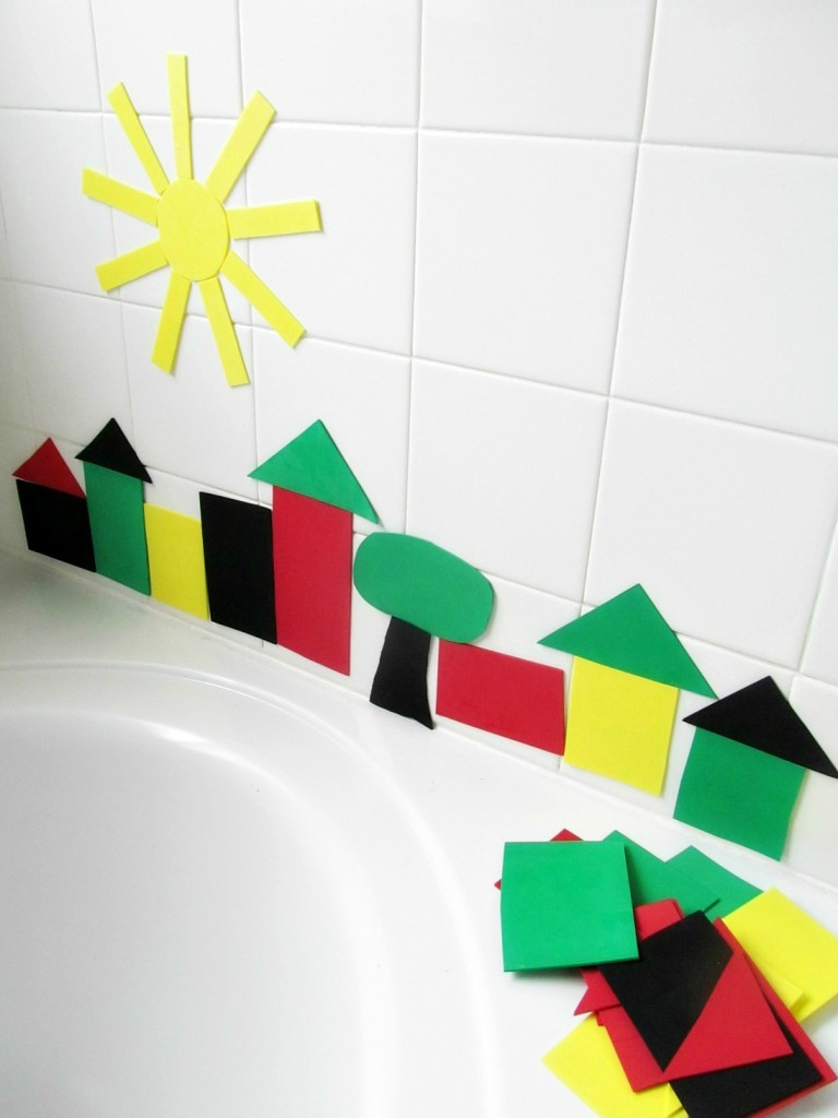 DIY Bath Decor - Craft Foam Bath Stickers