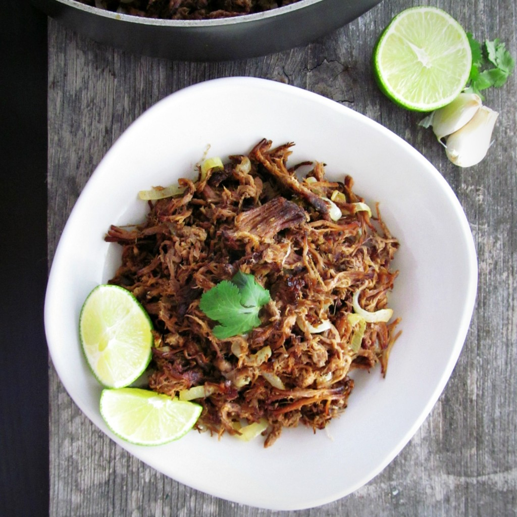 Vaca Frita - a traditional Cuban dish of shredded beef, garlic, onions, and lime.