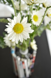 Daisy, and an urban-chic vase made from recycled materials