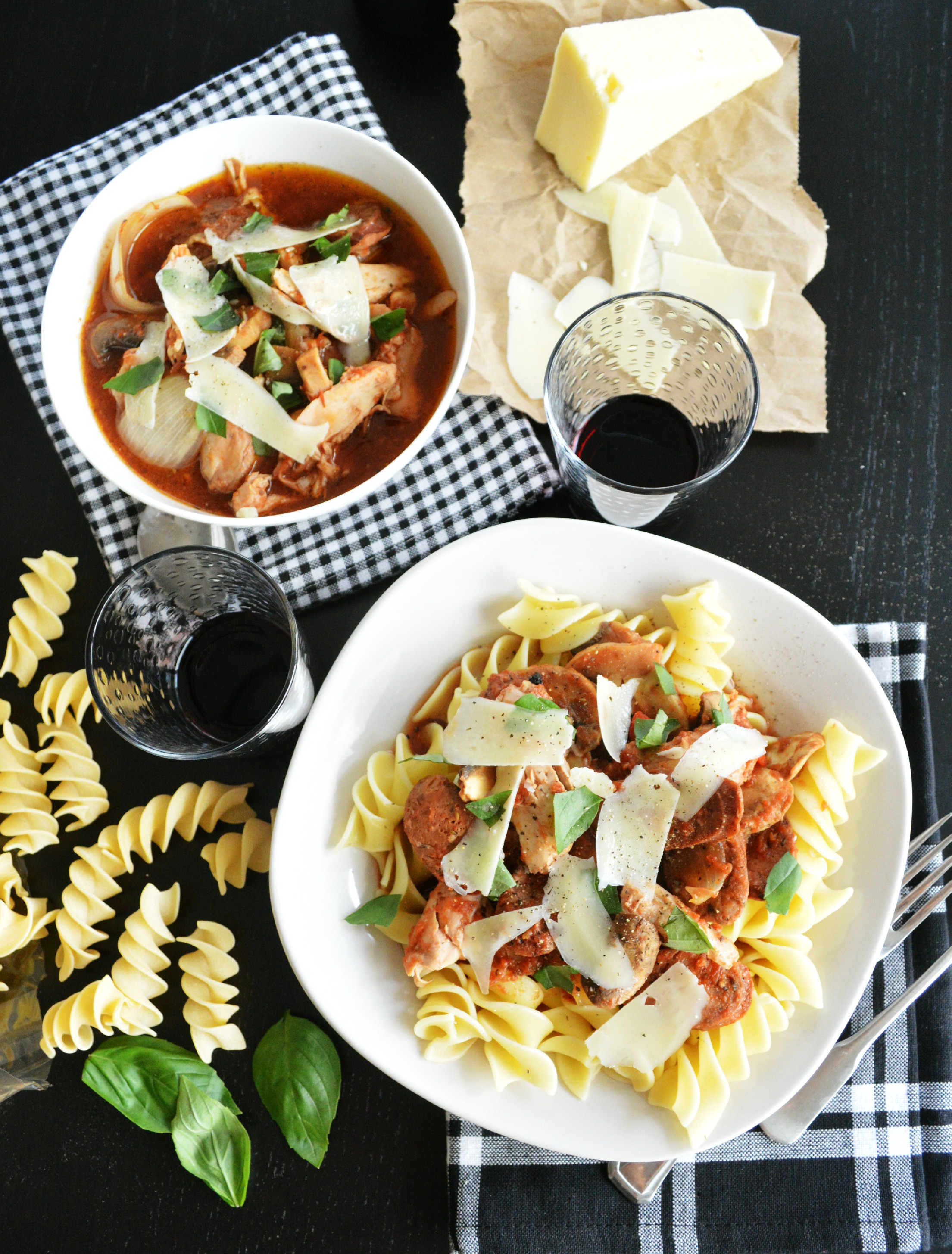 Crock Pot Chicken and Mushroom Ragu