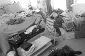 tidying in action