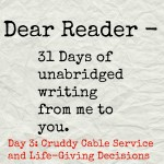 Dear Reader day 3
