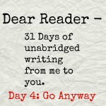 Dear Reader day 4