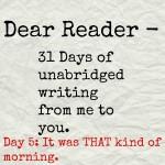 Dear Reader day 5