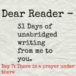 Dear Reader day 7
