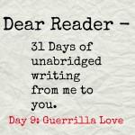 Dear Reader day 9